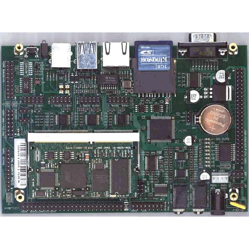 SoM-150ES shown with SoM-9260EM and SD Card Installed (SoM-9260EM and SD Card Not Included)